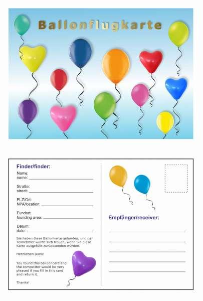 Ballonflugkarte