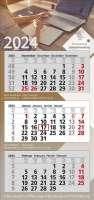 3 Monats-Wandkalender Premium 3, 4-sprachig