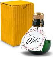 Kleinste Sektflasche der Welt! Zum Wohl - Inklusive Geschenkkarton, 125 ml