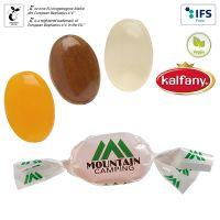 Spezialitäten Bonbons im kompostierbaren Werbewickel