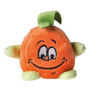 Schmoozies® Orange, das Kugeltier, Unterseite aus Mikrofaser ist vielseitig einsetzbar.