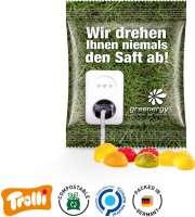 """Fruchtgummi Minitüte 10g, """"Fußball"""", kompostierbare Folie"""