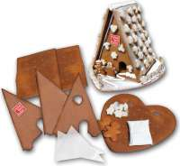 Lebkuchenhausbausatz Mega mit Logo