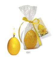 Ei-Kerze - Frohe Ostern, 1-4 c Digitaldruck inklusive gelb