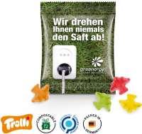 "Fruchtgummi Minitüte 10g, ""Flugzeug"", kompostierbare Folie"