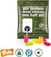 """Fruchtgummi Minitüte 10g, """"Handy"""", kompostierbare Folie"""