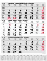 3-Monats-Planer Comfort redline auch mit Werbedruck