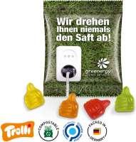"""Fruchtgummi Minitüte 10g, """"Daumen"""", kompostierbare Folie"""