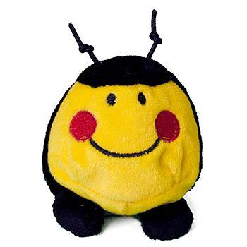 Schmoozies® Biene, das Kugeltier, Unterseite aus Mikrofaser ist vielseitig einsetzbar.