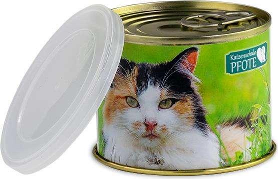 Katzen-Leckerli-Konserve mit Deckel
