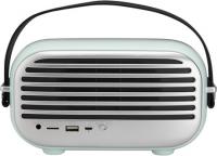 Klangstarker Bluetooth Lautsprecher im Retro-Design mit vielen Anschlussmöglichkeiten und UKW-Radio