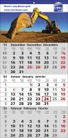 3 Monats-Wandkalender Smart, 3-sprachig