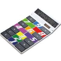 Tischrechner Eigendesign mit 12 Digits aus Kunststoff