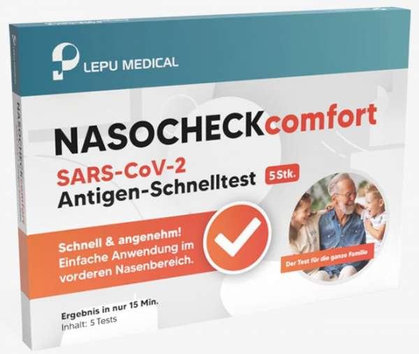 LEPU NASOCHECK Comfort Covid-19 Antigen-Schnelltest (Laientest)