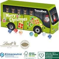 3D Adventskalender Lindt Bus, Klimaneutral, FSC®, Inlay aus 100% Recycling-Material hergestellt