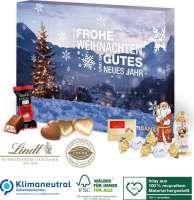 Adventskalender Lindt Premium-Selection, Klimaneutral, FSC®, Inlay aus 100% recyceltem Material