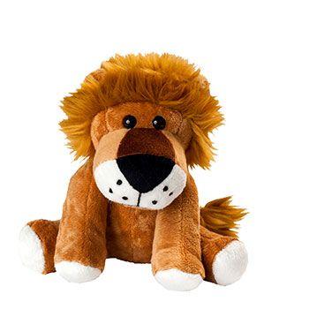 Zootier Löwe Ole ist aus superweichem Plüsch gefertigt.
