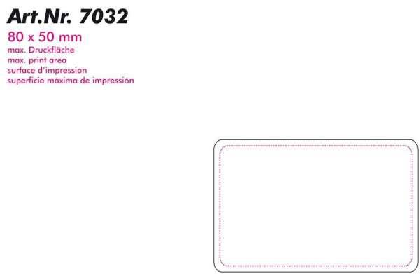 Kunststoff Visitenkarte Grundfarbe Weiß
