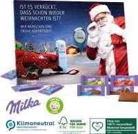 Tisch-Adventskalender Milka gemischt, Klimaneutral, FSC®, Inlay aus 100% recyceltem Material