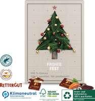 Adventskalender mit RETTERGUT Mixschokolade, Klimaneutral, FSC®, Innen- und Außenteil zu 100% aus Ka