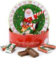 Geschenkartikel - Präsentartikel: Runder Schokoladen Adventskalender