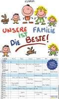 Wandkalender Unsere Familie ist die Beste - Frühbucherrabatt bis 30.06.21