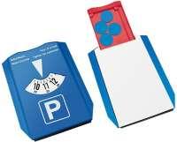 Vorderseite: blau, Rückseite: weiß, Chip: blau