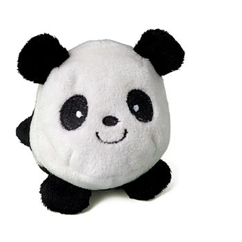 Schmoozies® Panda, das Kugeltier, Unterseite aus Mikrofaser ist vielseitig einsetzbar.
