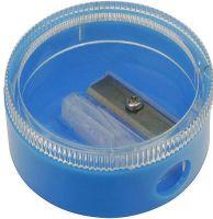 Oberteil: glasklar, Unterteil: blau