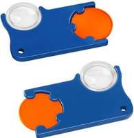 Chip: orange, Chiphalter: blau