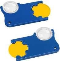 Chip: gelb, Chiphalter: blau
