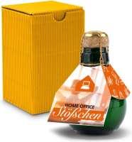 Kleinste Sektflasche der Welt! Home Office Stößchen - Inklusive Geschenkkarton, 125 ml