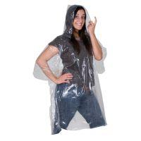 Transparenter phthalatfreier Not-Poncho in einer Plastikhülle