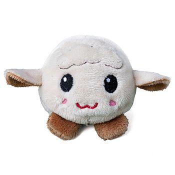 Schmoozies® Schaf, das Kugeltier, Unterseite aus Mikrofaser ist vielseitig einsetzbar.