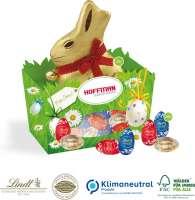 Premium-Osternest mit Schokolade von Lindt, Klimaneutral, FSC®