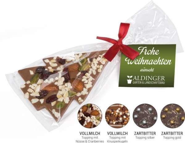 Schoko Christmas Tree Vollmilchschokolade (Topping Knusperkugeln)
