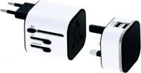 Leuchtlogo-Reiseadapter mit Smart Charge-Ladetechnik und Zubehörtasche