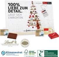 Tisch-Adventskalender Lindt Exklusiv, Klimaneutral, FSC®, Inlay kompostierbar
