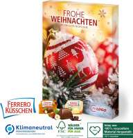 Adventskalender Ferrero Küsschen, Klimaneutral, FSC®, Inlay aus 100% recyceltem Material