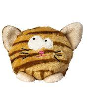Schmoozies® Katze, das Kugeltier, Unterseite aus Mikrofaser ist vielseitig einsetzbar.