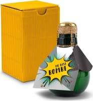 Kleinste Sektflasche der Welt! Du bist Bombe - Inklusive Geschenkkarton, 125 ml