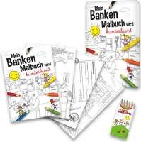 Malbuch Set Banken (neutral)