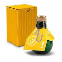 Kleinste Sektflasche der Welt! Only 4 u - Inklusive Geschenkkarton, 125 ml