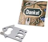 Präsentartikel: ROMINOX® Key Tool House - Haus (21 Funktionen) im Motiv-Mäppchen Danke