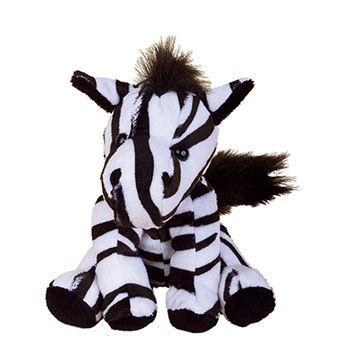 Zootier Zebra Zora ist aus superweichem Plüsch gefertigt.