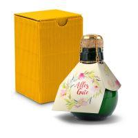 Kleinste Sektflasche der Welt! Alles Gute - Inklusive Geschenkkarton, 125 ml