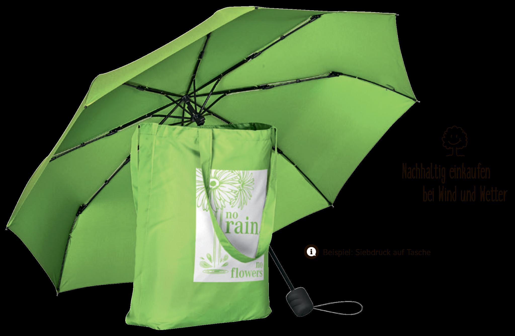 Mini-Taschenschirm ÖkoBrella Shopping