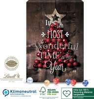 Wand-Adventskalender Lindt Gourmet Edition, Klimaneutral, FSC®, Inlay aus 100% Recycling-Material he