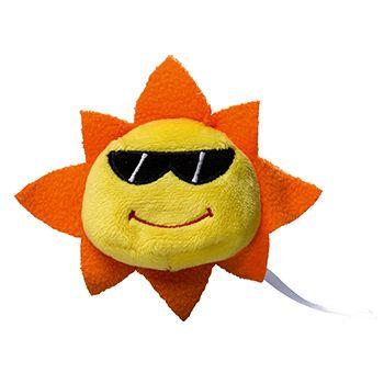 Schmoozies® Sonne, das Kugeltier, Unterseite aus Mikrofaser ist vielseitig einsetzbar.