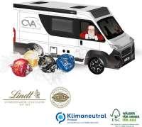 3D Präsent Camper mit Lindt Lindor Pralinés, Klimaneutral, FSC®